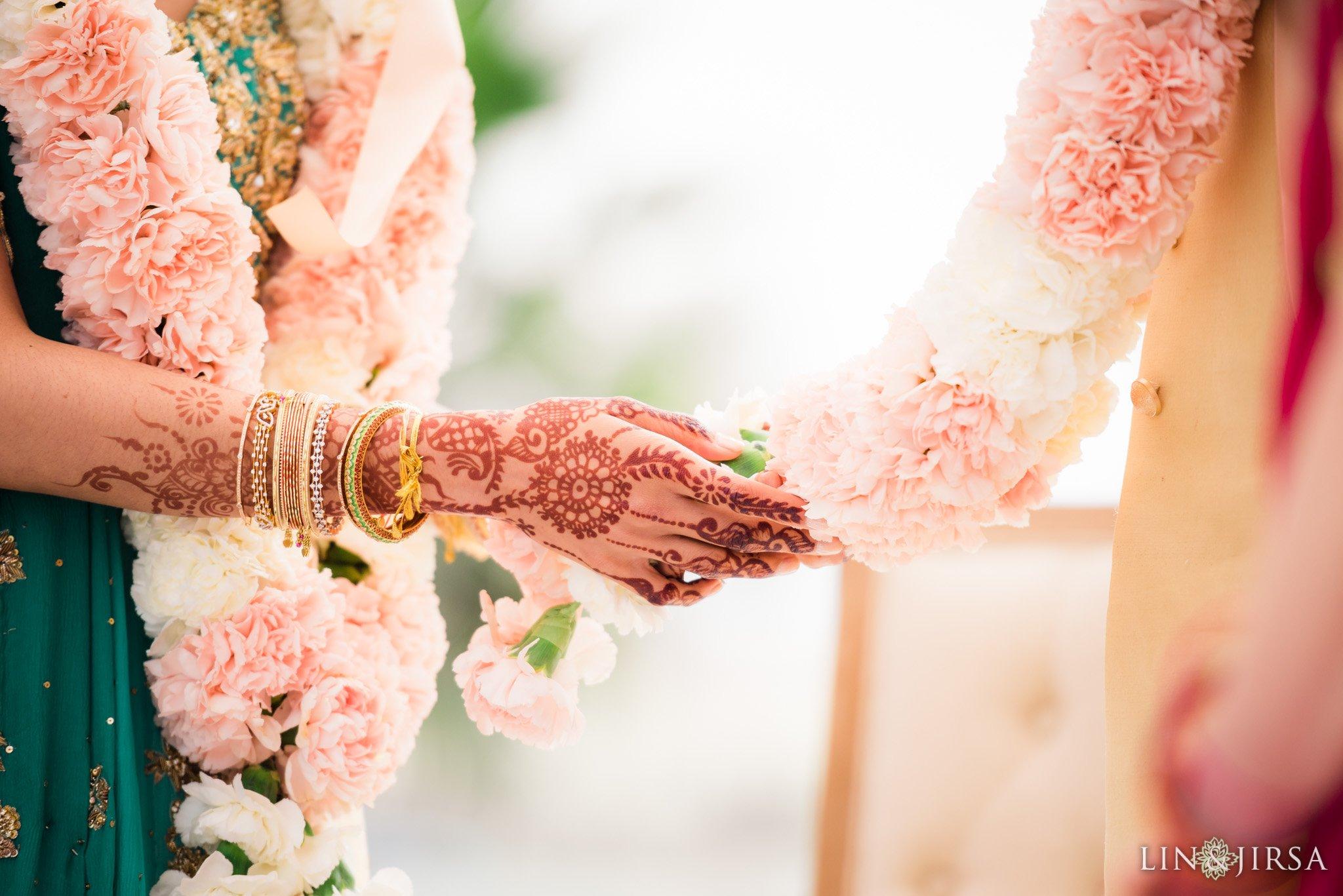 Varmala-flowers-Pasea-Hotel-and-Spa-Huntington-Beach-Wedding-Photography